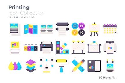 Printing Color Icon