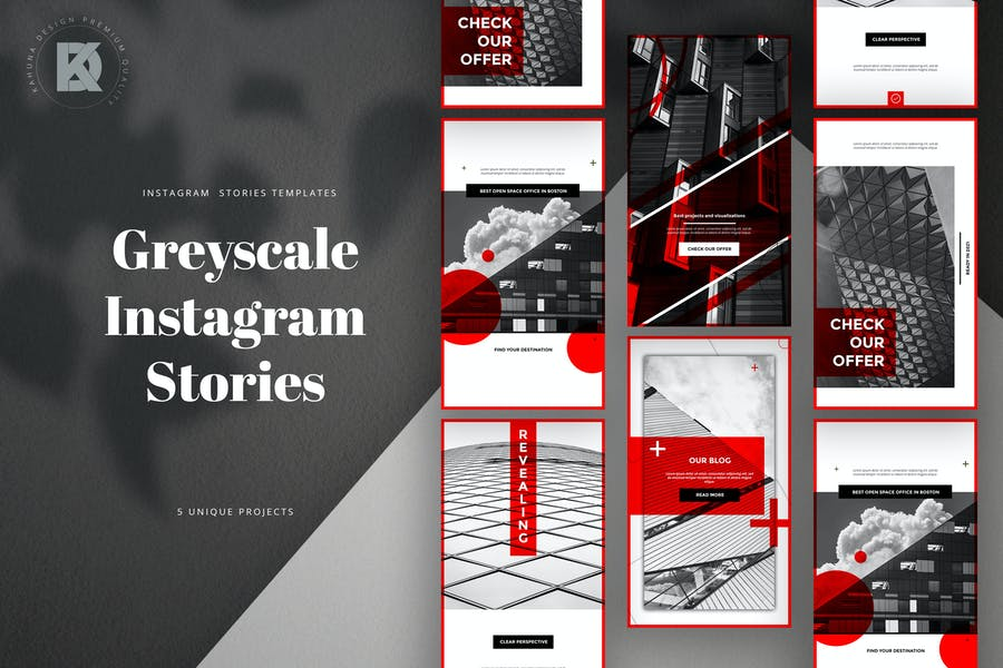 Greyscale Instagram Stories Banners