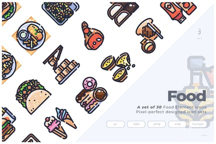30 International Food Icons