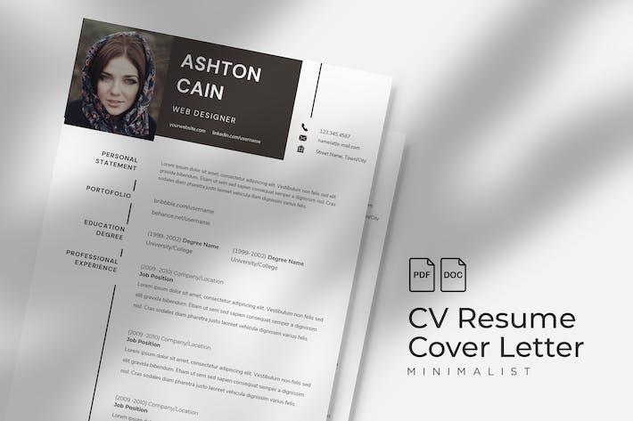 Thumbnail for Ashton Cain - CV Resume Template