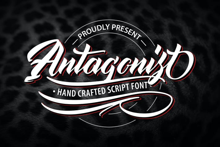 Thumbnail for Antagonis | Handcrafted Script Font