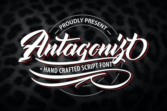 Thumbnail for Antagonis | Police de script artisanale