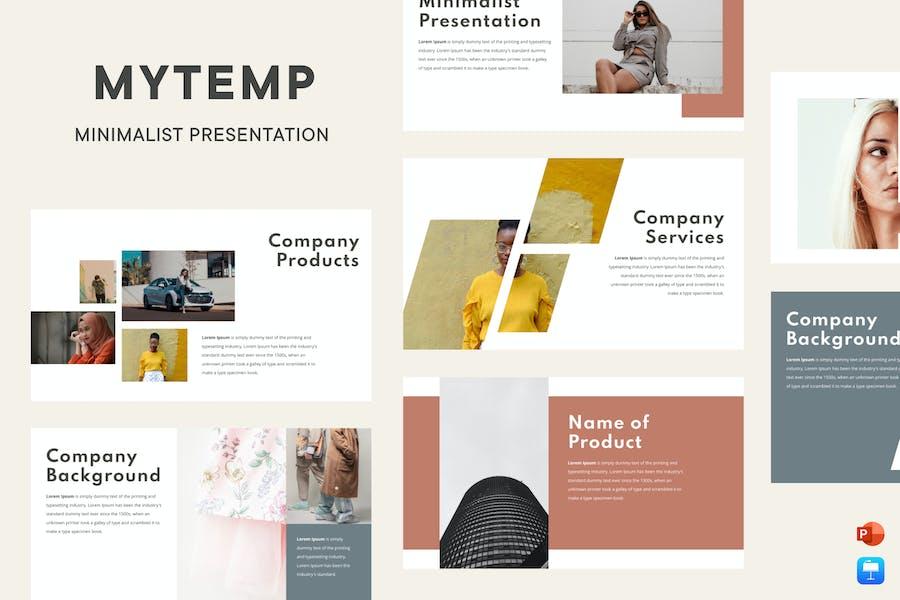 Mytemp - Minimalist Presentation