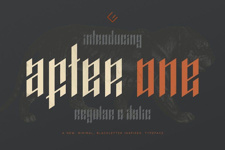 AfterOne - Blackletter Inspired Font