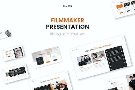 Filmmaker Google Slide Template Presentation