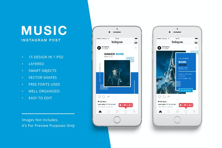 Thumbnail for Music Instagram Post Banner Template