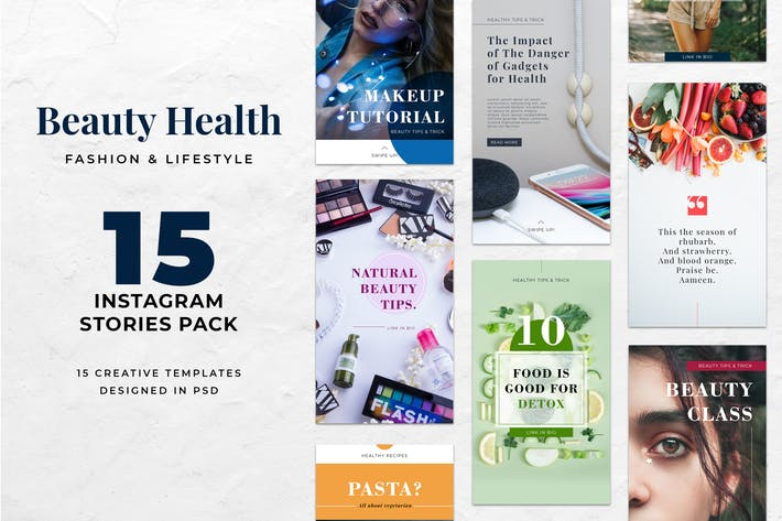 Thumbnail for Instagram Stories Beauty Health