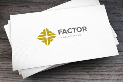 Fame Factor Letter F Logovorlage