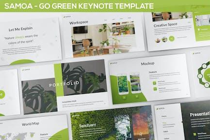 Самоа - Шаблон основного Keynote «зеленой кампании»