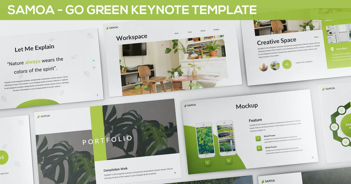Samoa - Green Campaign Keynote Template by Unknow