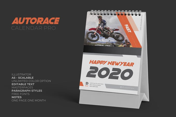 Thumbnail for 2020 Auto Race Calendar Pro