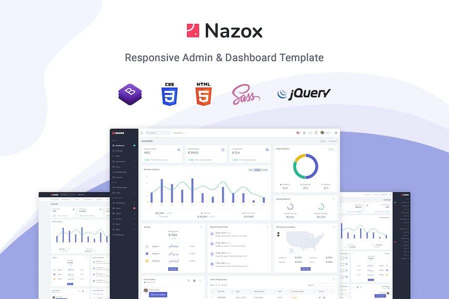 Nazox - Admin & Dashboard Template