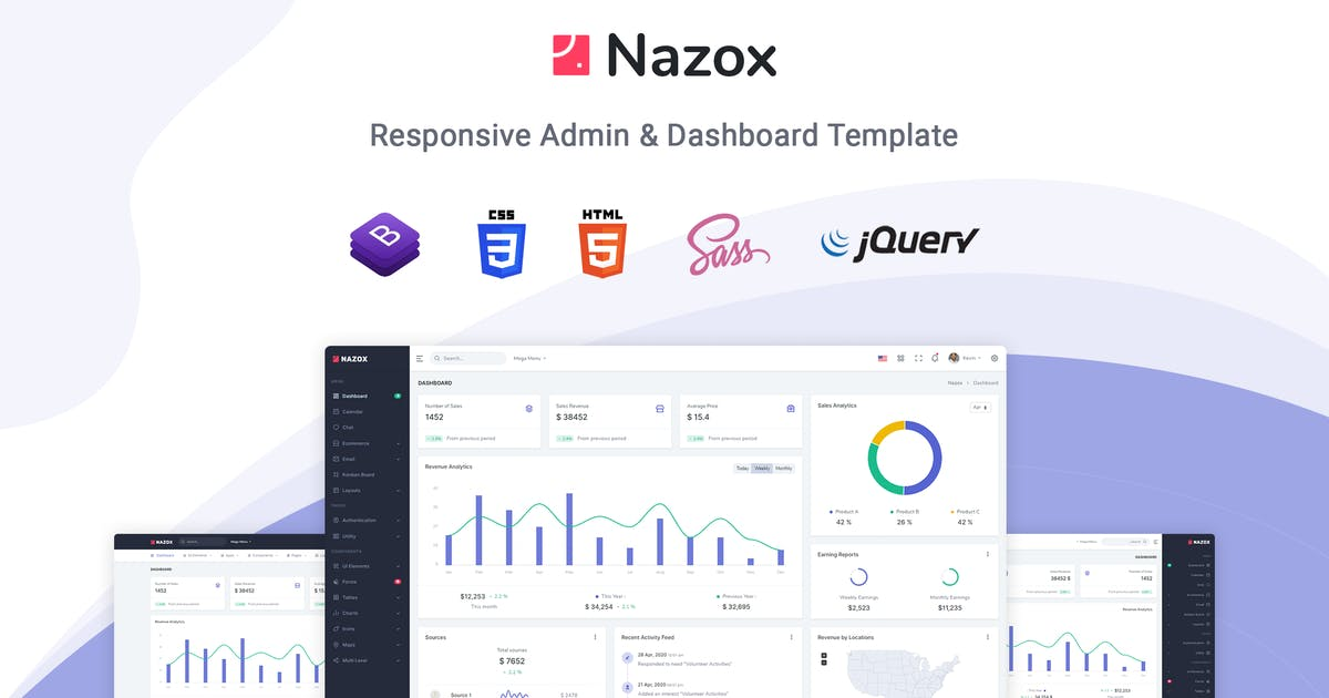 Download Nazox - Admin & Dashboard Template by themesdesign