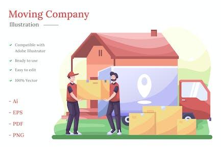 Umzug Unternehmen Illustration