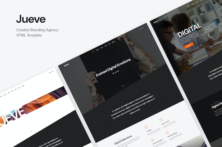 Thumbnail for Jueve | Creative Agency Onepage HTML Template