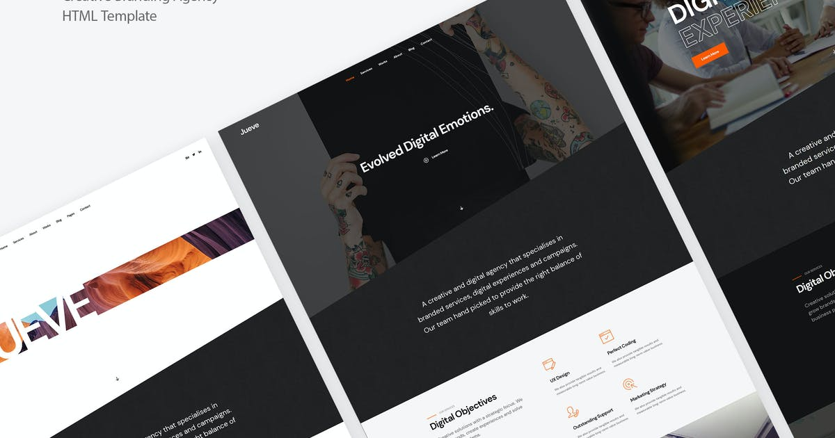 Download Jueve | Creative Agency Onepage HTML Template by DeoThemes