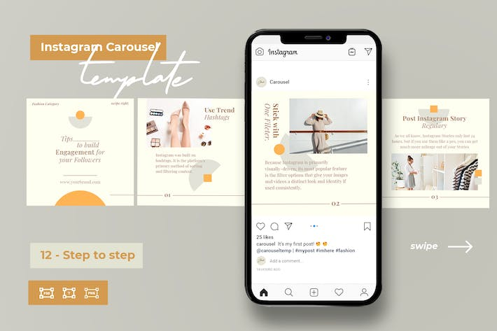 Thumbnail for Step by Step - Instagram Templates for Fashion