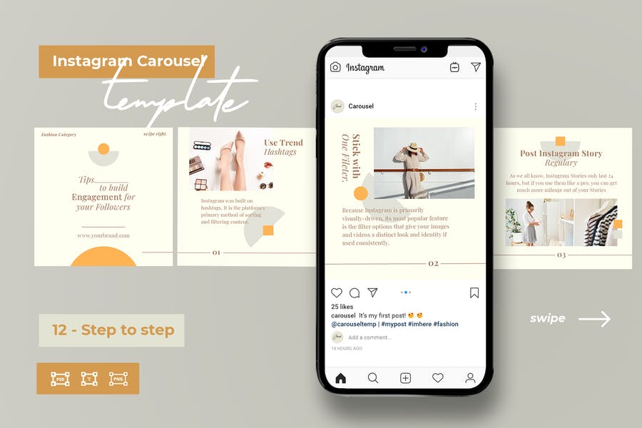 Step by Step - Instagram Templates for Fashion