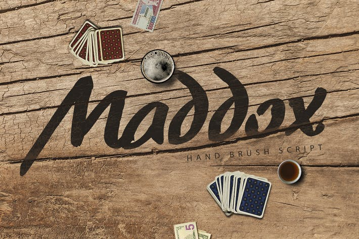 Thumbnail for Madoxx Brush Typeface