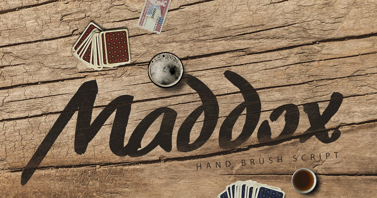 Download Madoxx Brush Typeface by PereEsquerra