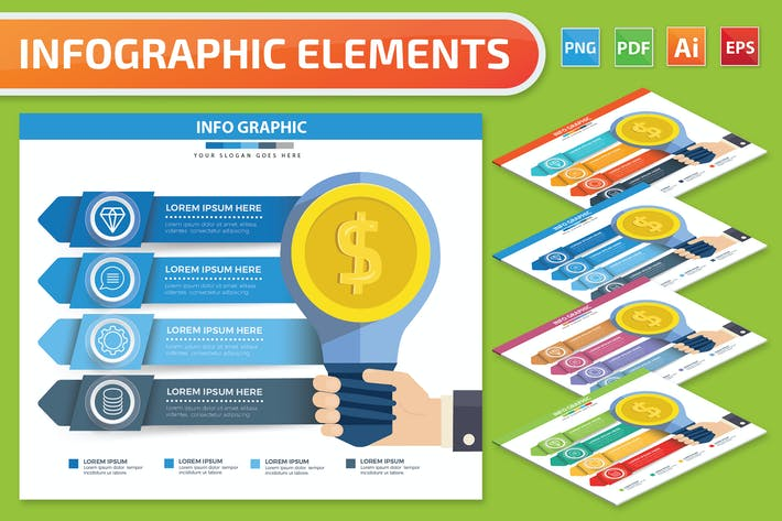 Thumbnail for Idea Infographics design