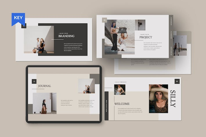 Cover Image For Silly Brand Keynote Presentation Template