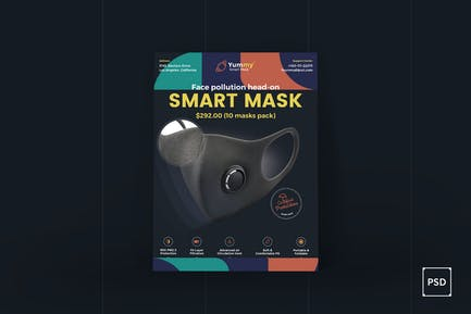 Anti-Verschmutzung Maske Poster