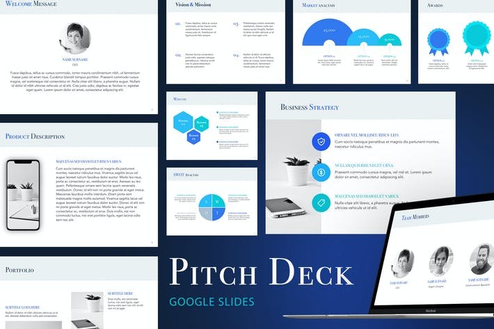 Thumbnail for Pitch Deck Google Slides Template