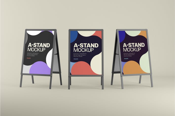 Thumbnail for A-Stand Mockup   Advertising Board