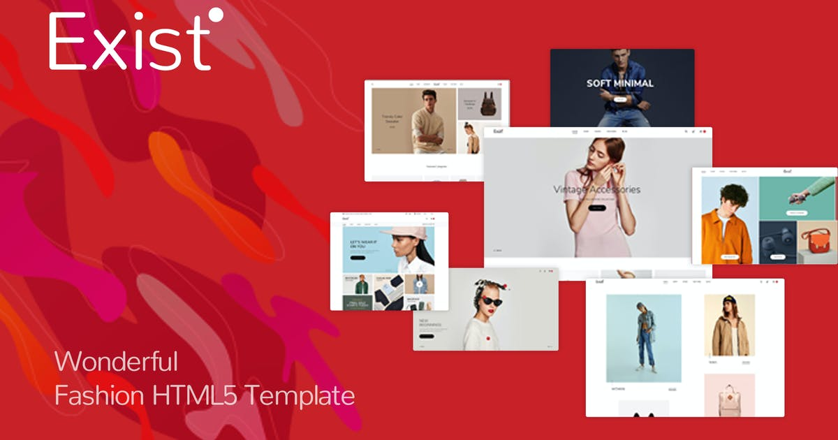 Download Exist - Wonderful Fashion HTML Template by nouthemes