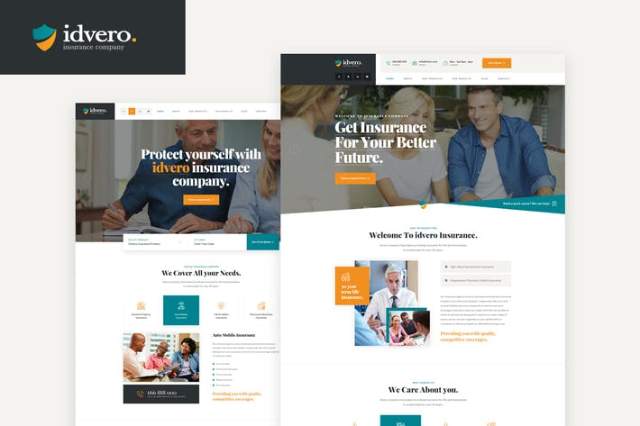 Thumbnail for idvero - Insurance Company PSD Template
