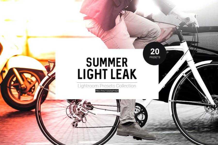 Summer Light Leak Lightroom Presets