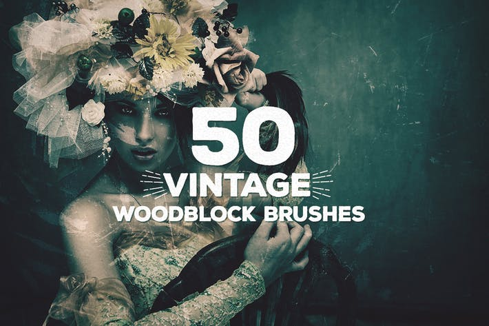 Thumbnail for 50 Vintage Woodblock Brushes