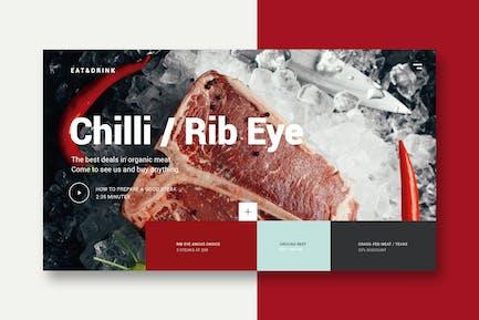 Meat & Restaurant - Landing Page