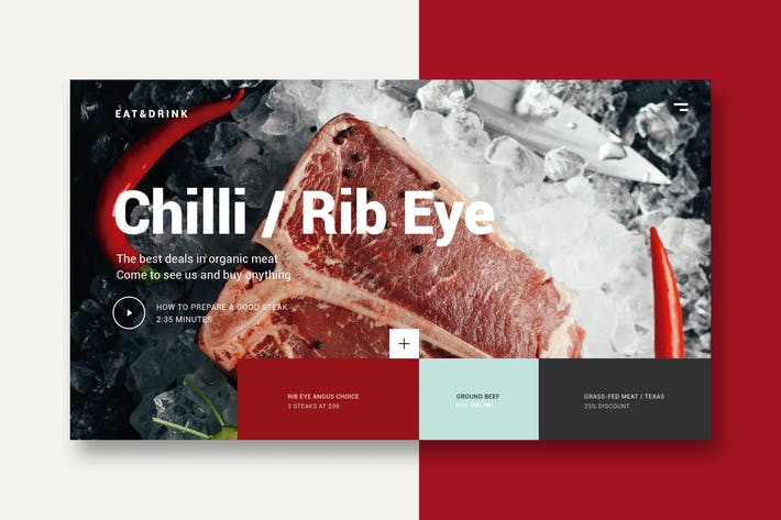Thumbnail for Meat & Restaurant - Landing Page
