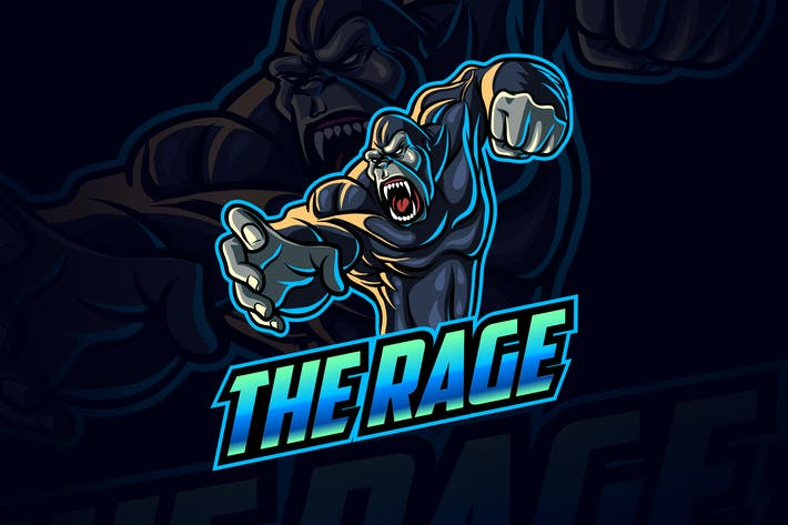 Thumbnail for Angry Gorilla Esports and Sports Mascot Logo