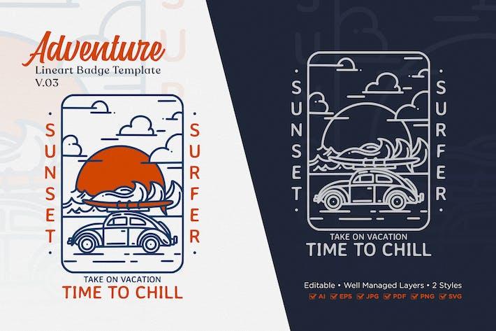 Adventure Monoline Logo Badge Template V.03