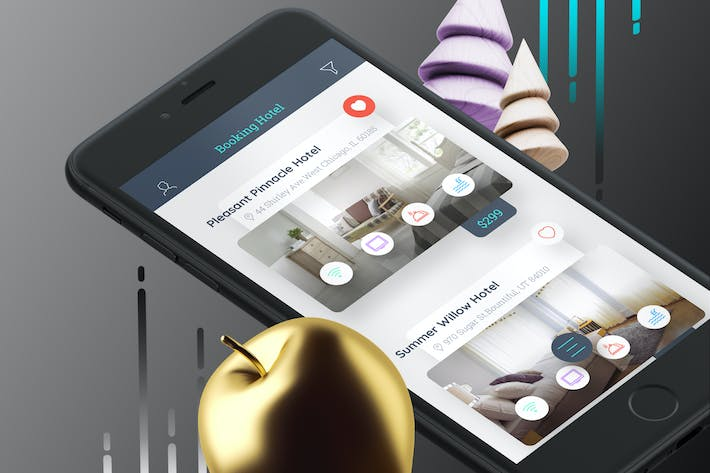 Thumbnail for Booking Hotel 2 Mobile Ui - TH