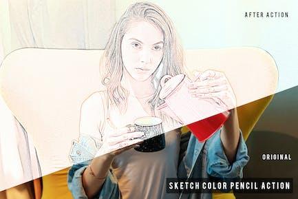 Sketch Color Pencil Action