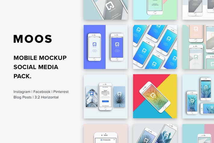 Cover Image For Moos - Mobile Mockup Social Media Pack