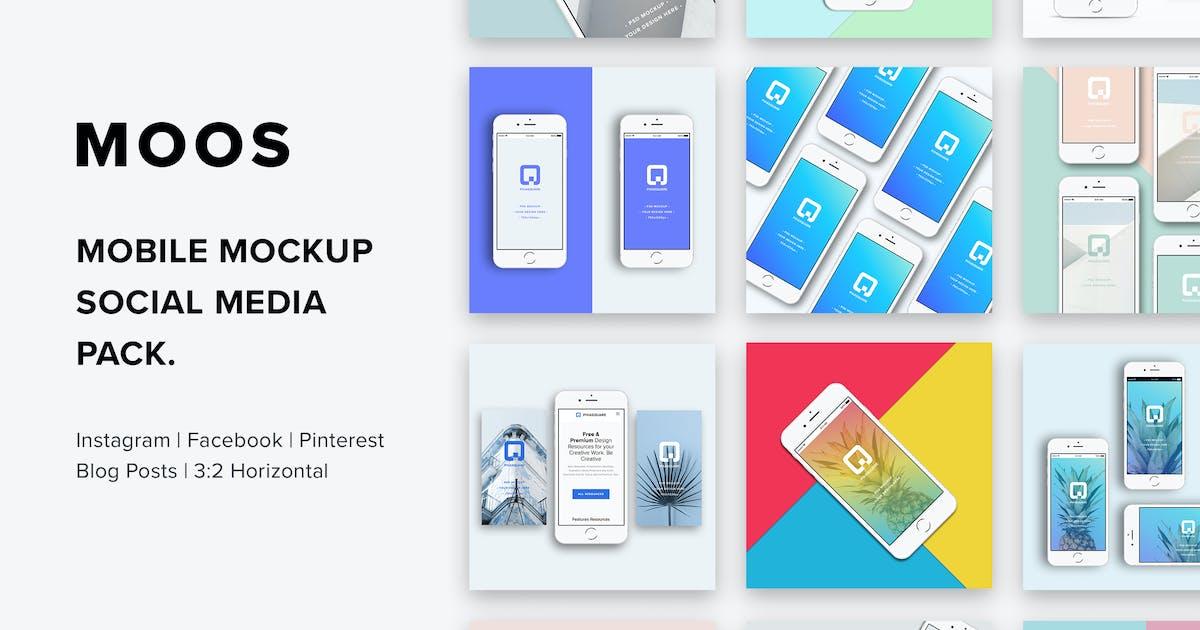 Download Moos - Mobile Mockup Social Media Pack by MuseFrame