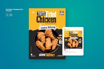 Cd Food Flyer & Instagram Post