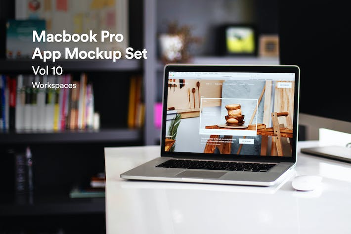 Thumbnail for Macbook Laptop Display Web App Mock-Up Vol 10