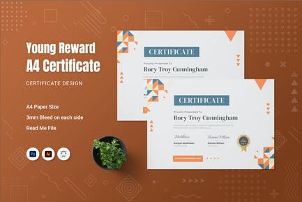 Young Reward Certificate