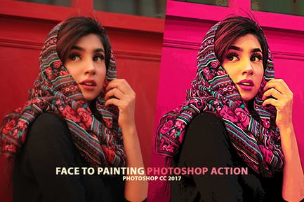 Portrait to Painting Action Set