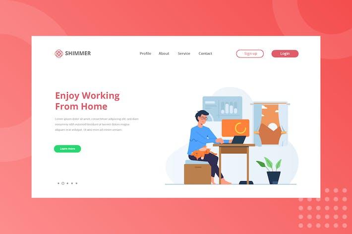 Thumbnail for Enjoy Working Landing Page