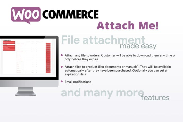 Thumbnail for WooCommerce Attach Me!