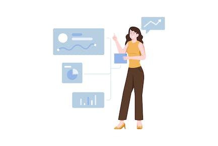 Analytic Flat Illustration