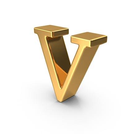 Gold Small Letter V