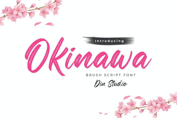 Thumbnail for Okinawa-Elegant Brush Font